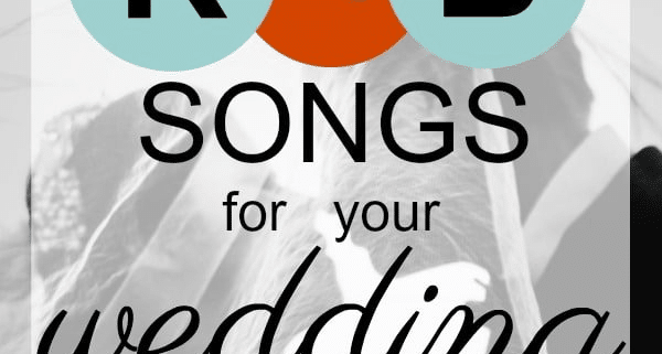 R&B songs for your wedding