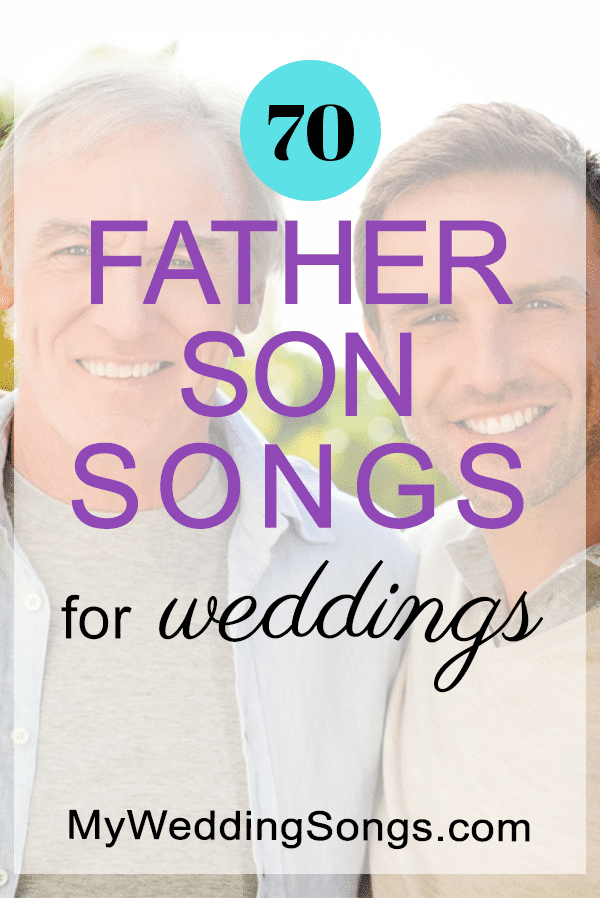 father son songs list for weddings