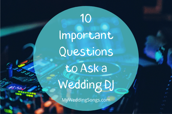 questions to ask a wedding dj