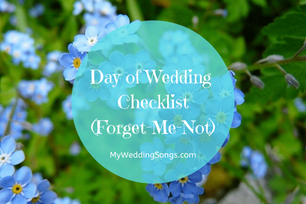 day of wedding checklist