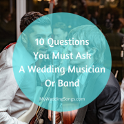 questions to ask wedding band musicians